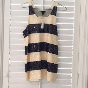 J Crew Collection sequined tank NWT SIZE XS